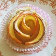 Różyczki jabłkowo-cynamonowe z ciasta francuskiego (wegańskie)