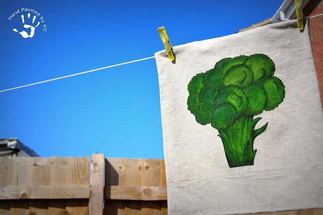 Hand painted bag!  Ręcznie malowana torba z kalafiorem.  #bag #handmade #handpainted #kalafior #green #healthyfood #food #delicious #healthy