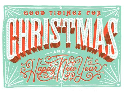 Good Tidings by Jeff Rogers #typography