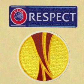 UEFA EUROPA LEAGUE + RESPECT FOOTBALL PATCH 2012-2015 SOCCER SHIRT FlOCK BADGE