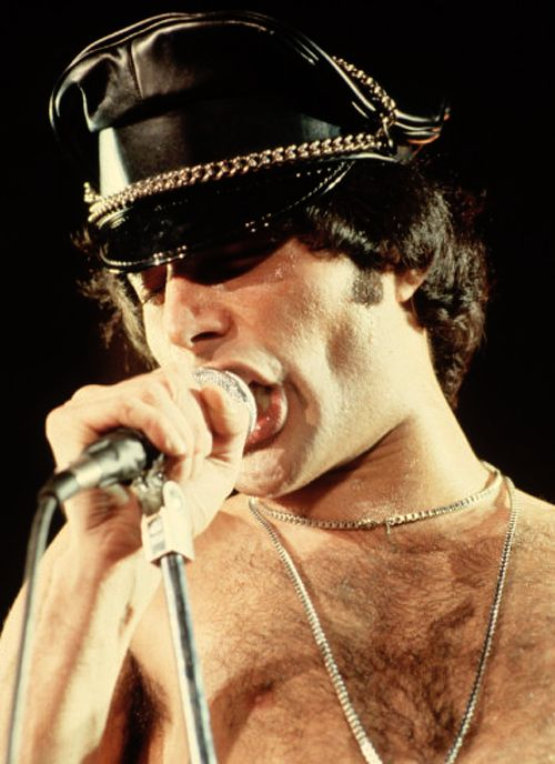 Freddie live in concert, 1978.
