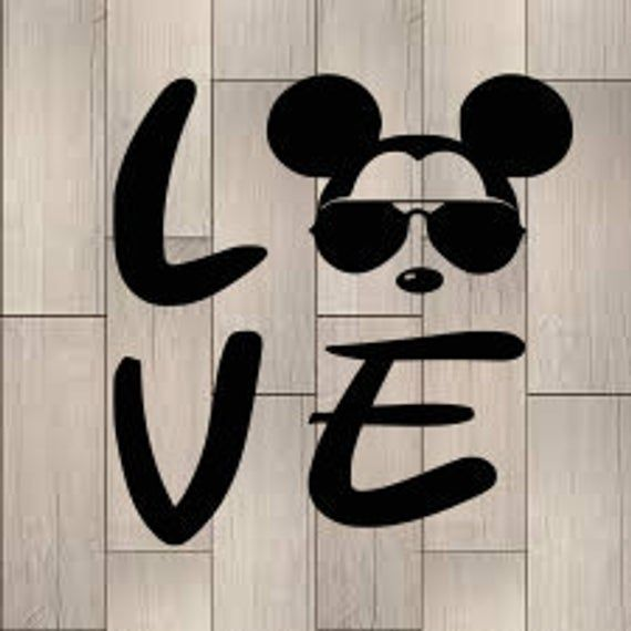 Download Mickey Mouse SVG Mickey Love SVG Love SVG Mickey with ...