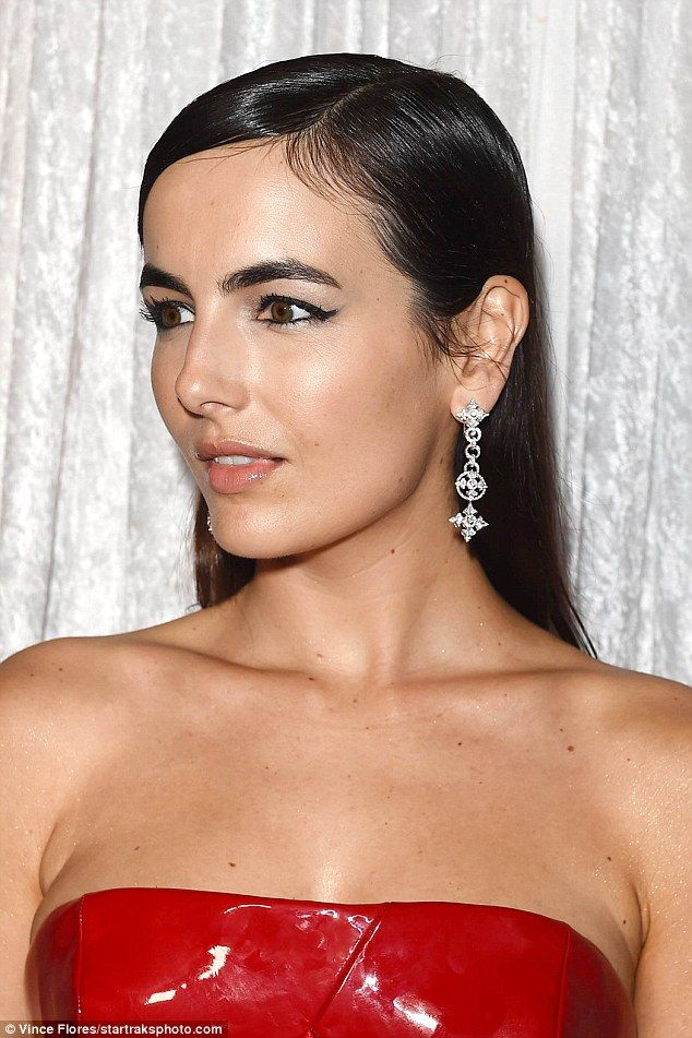 Bling it on: The Push star added a large diamond ring as well as long diamond earrings