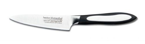 "Heston Blumenthal 10cm Paring Knife by Grunwerg. $31.99. The Heston Blumenthal Kitchen Knife range offers the performance and precision of craftsman knife making with the latest 3 layer technology. All brought together in a high quality range of knives which are the favourite of Professional chefs. ""For Balance, technical precision and design, these are outstanding kitchen knives"" - Heston Blumenthal -Stainless Steel -Hybrid 3 Layer Technology"