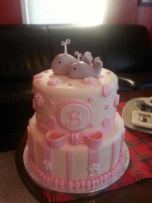 Trashy Baby Shower Cake