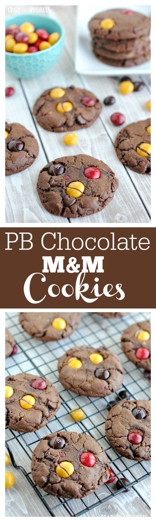 Peanut Butter Chocolate Cookie with Peanut Butter M&Ms Inside!