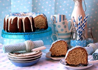 Desirvientadas:white xoco & bannana Bundt cake: Bundt Cakes
