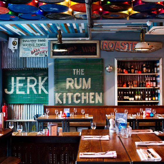 Every sign, and there are a lot, delivers its message with verve. The steel drums arranged in a ceiling installation resonate island rhythms, and the vintage patina throughout creates a relaxed and welcoming ambience...