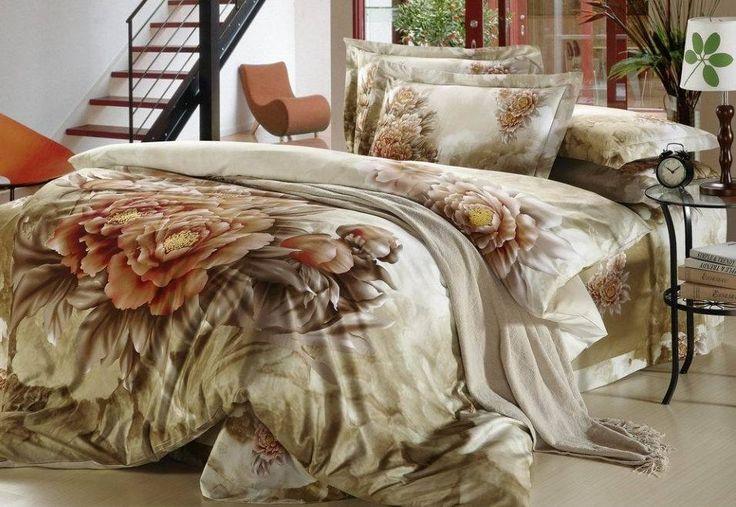 3D старинные цветок цветочный постельные принадлежности утешитель комплект король королева размер пододеяльник покрывало кровать в сумке 100% хлопок главная texi купить на AliExpress