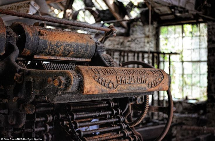 George Hodgson of Bradford manufactured these patented looms which were powered by the wor...