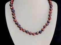 Goldfluss, marmoriert, Perlen, Halskette, Collier