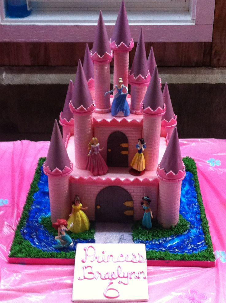 50 best castle cakes images on pinterest | princess castle cakes