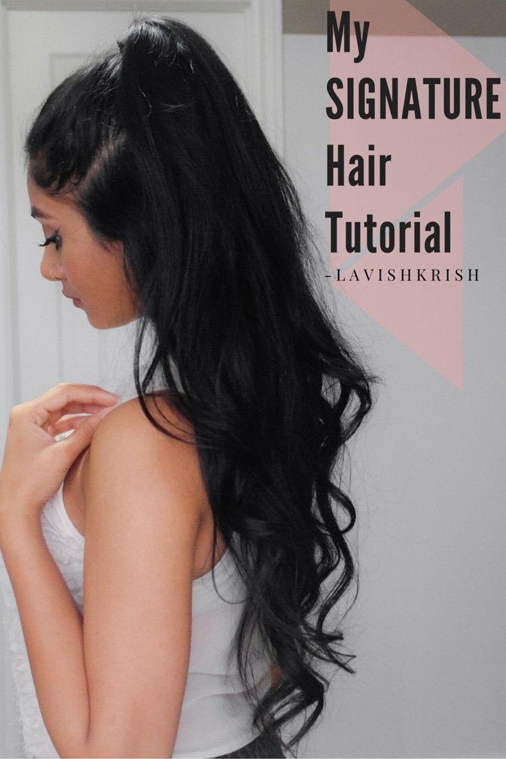 Half Up Half Down Hair Tutorial Pinterest Lavishkrish