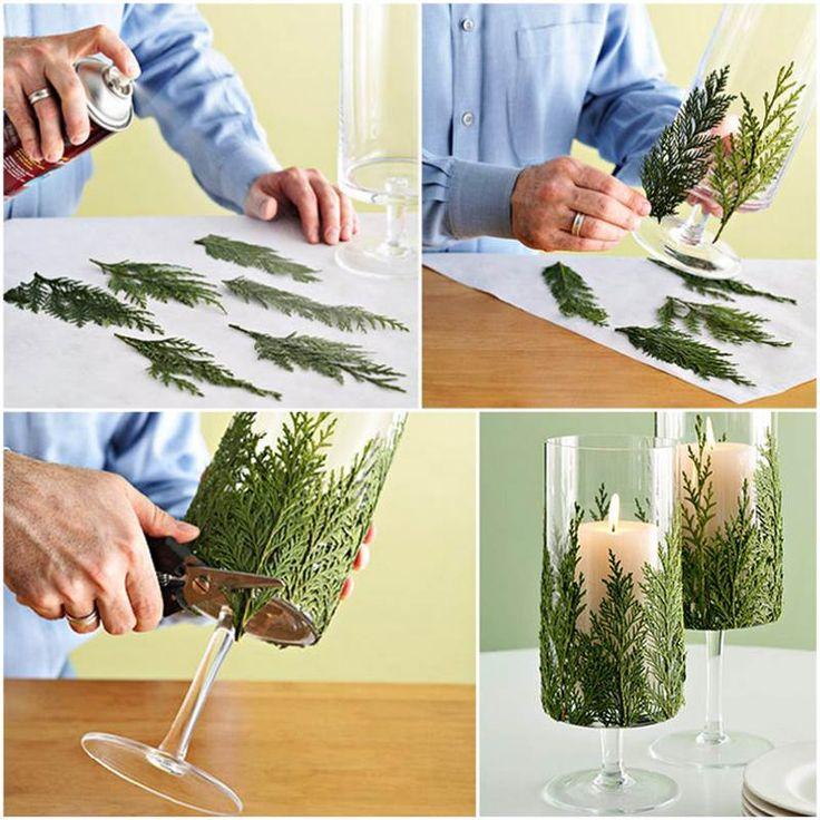 Creative Ideas - DIY Evergreen Christmas Candle Holder | iCreativeIdeas.com Follow Us on Facebook --> https://www.facebook.com/iCreativeIdeas