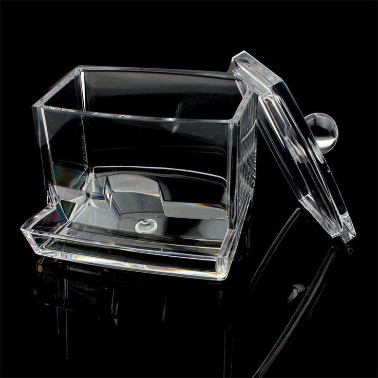 Q-tip Swab Acrylic Cotton Storage Box Cosmetic Stick Holder organizer boite de rangement Quality First