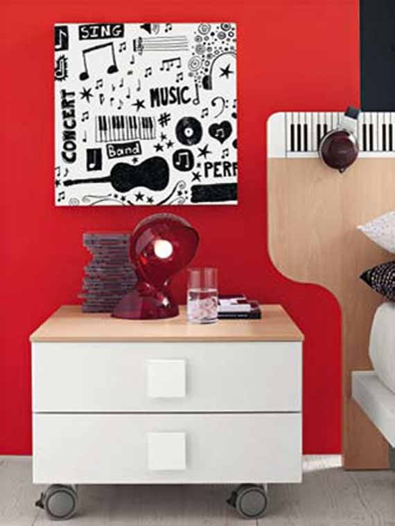 to match the music themed room