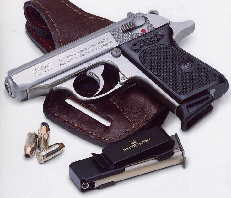 Walther PPK - The James Bond gun. If it's good enough for 007 then it's my  personal weapon of choice.