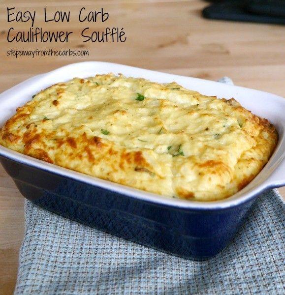 Easy Low Carb Cauliflower Souffle