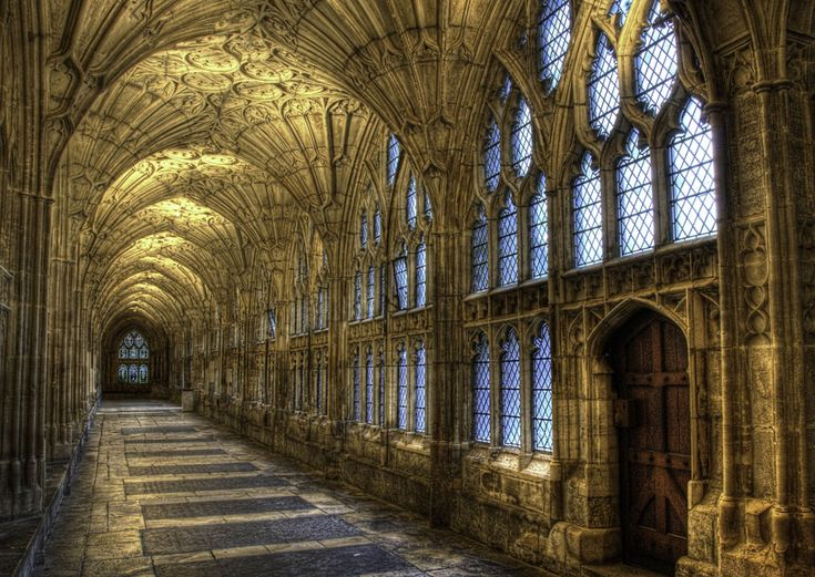 Gloucester Cathedral, Gloucestershire, England.  Photo by Meleah Reardon on Flickr.