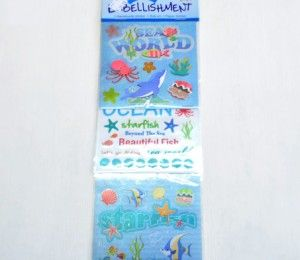 Sea world Sticker Embellishments on sale for R47.50  | Paradise Creative Crafts