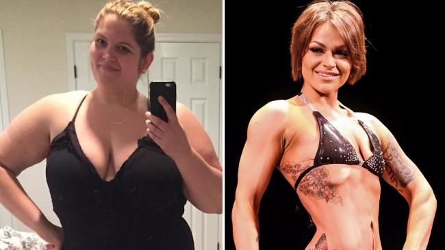 Mother lost 44kg and became a bodybuilder
