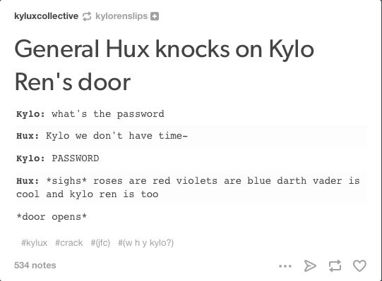 Roses are red violets are blue darth vader is cool and kylo ren is too.