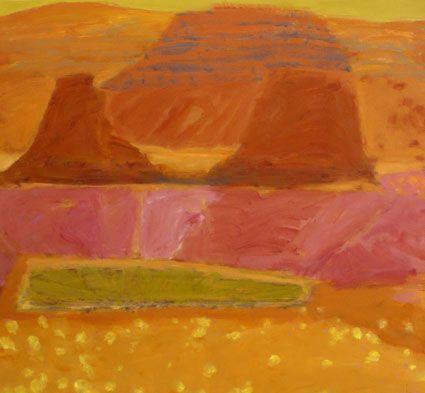 © Jo Bertini ~ Two Boys Dreaming, Muncoonie (Adria Downs) ~ 2009 oil on canvas at Olsen Irwin Gallery Sydney Australia