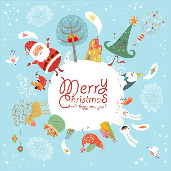 funny cute christmas card design 01 20 Most Beautiful Premium Christmas Card Designs From Shutterstock.