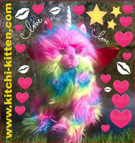 Rainbow butterfly unicorn kitten Toy. You must live this  too...