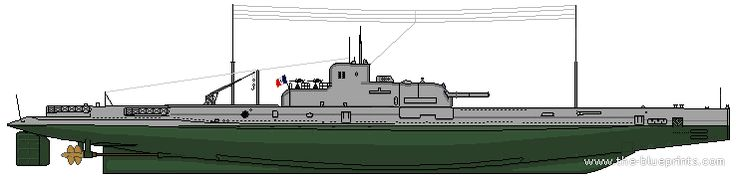 "WWII - French submarine ""Surcouf"" Before the Second World War, the Surcouf was the largest submarine in the world. Not only was she armed with torpedoes, she also had two 8 inch (203m) cannons mounted..."