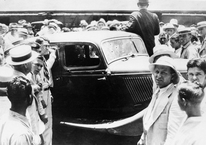 Bonnie and Clyde death car controversy takes center stage for upcoming anniversary This is the actual car as it was towed into town after the ambush