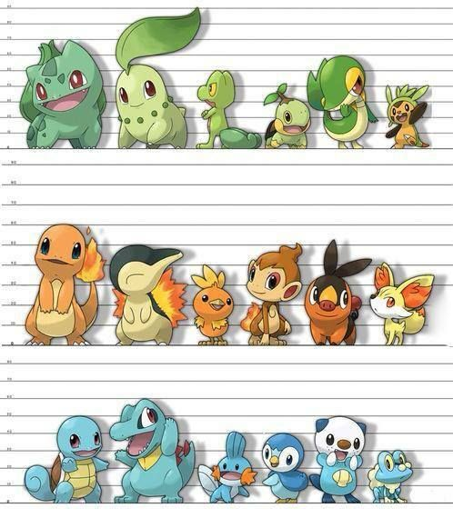 Starter line up. Is it me, or are the starters getting smaller?