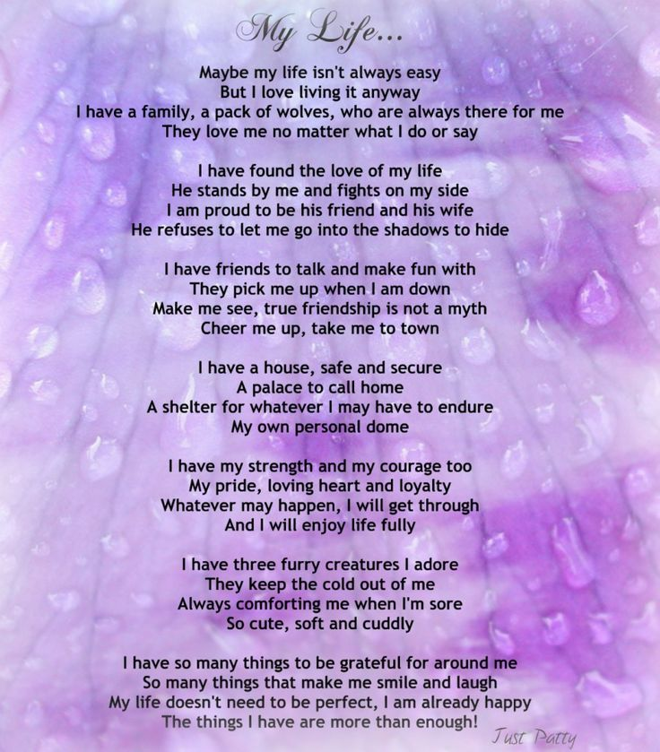 """Inspirational Poems About Life   Encouraging Life Poem – """"My Life ..."""
