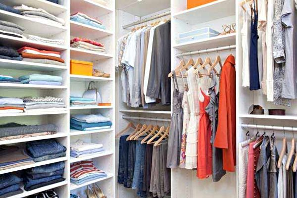 DIY Closet Organizer Rack Clothes Hangers