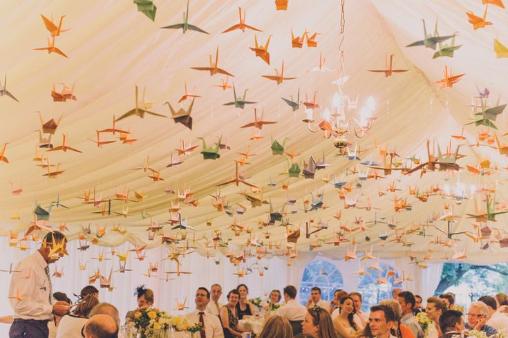 100 paper cranes wedding   photograph by nabeel camera