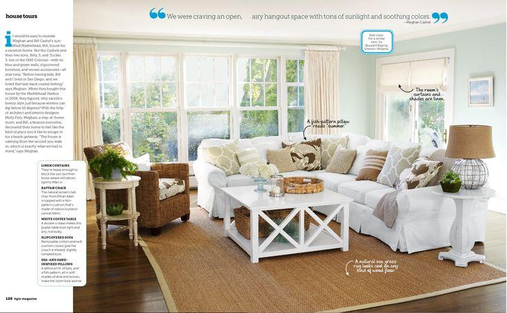 coastal casual living room