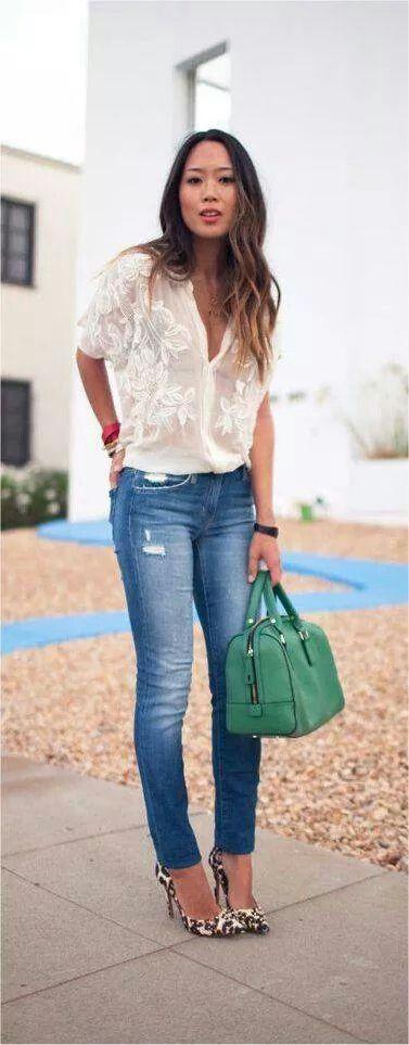 Jeans y zapatos de leopardo