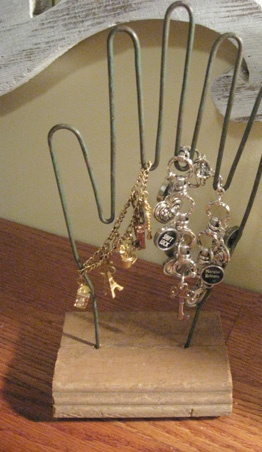 Industrial wire hands - I got this for a mother's day gift with three wire hands. My husband used our 3 boys hands when they were little. Very memorable gift.