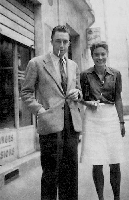 Albert Camus and his wife, the mathematician, Francine Faure                                                                                                                                                      More