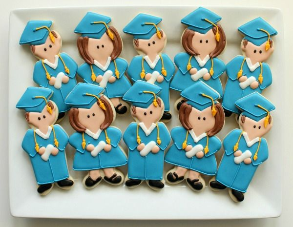 Graduation cookies, from Sweet Adventures of Sugarbelle.