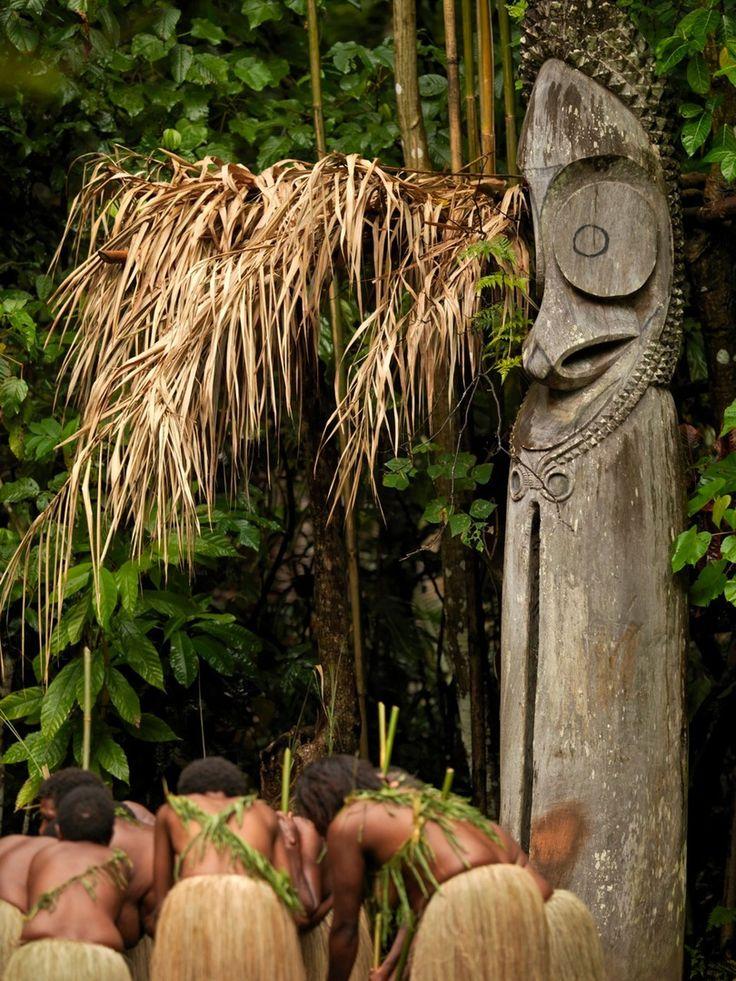 Ambrym women dance, Vanuatu
