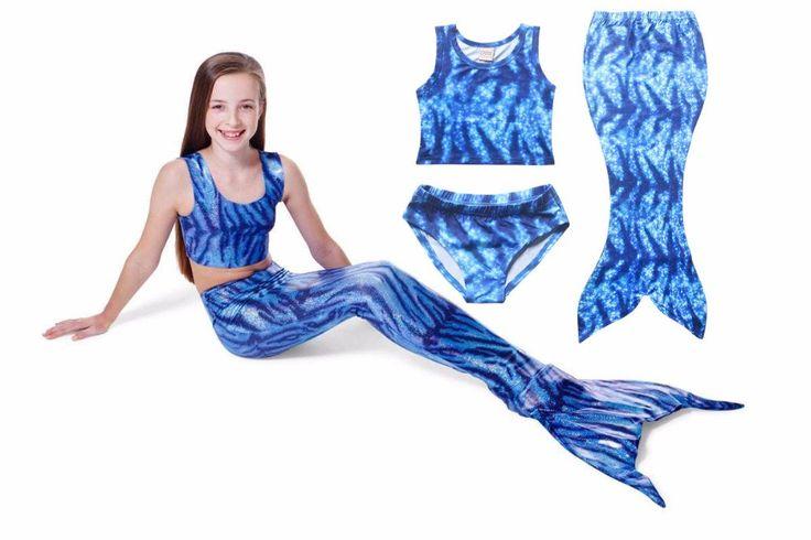 Blue Mermaid Tail, Fin Fun Mermaid Tails, cheap mermaid tails for swimming