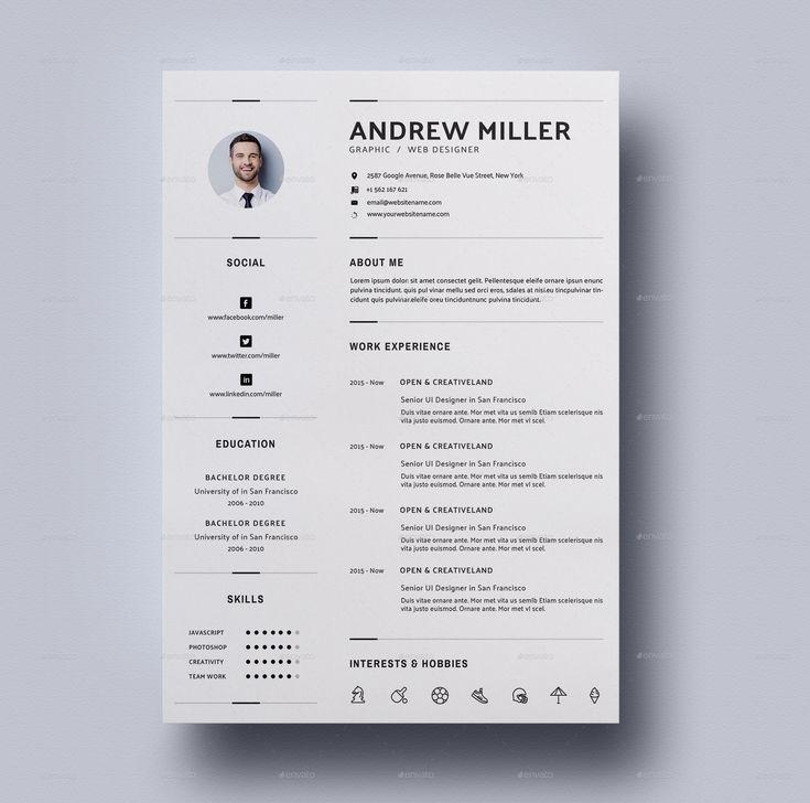 10 best Resume images on Pinterest Cv resume template, Cv template