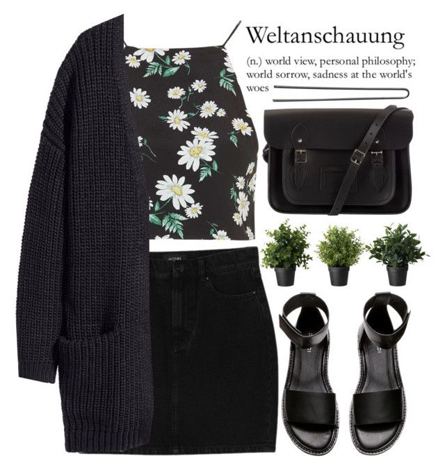 be original   read description by evangeline-lily on Polyvore featuring мода, H&M, Topshop, Monki, The Cambridge Satchel Company, Hershesons and beoriginal