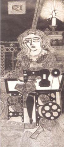 Ramona costurera, 1963: Obra de Antonio Berni