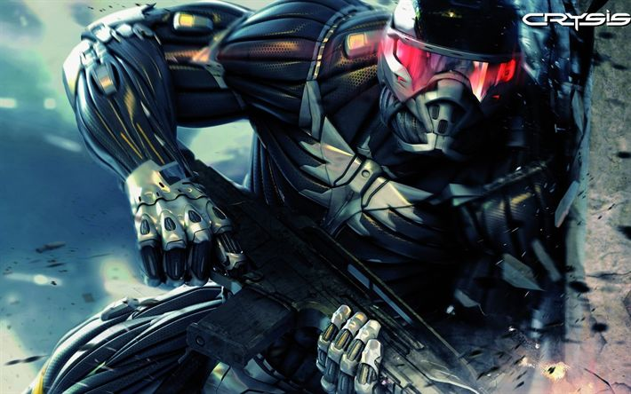 Download wallpapers Crysis 2, 4k, cyber warrior, Crysis