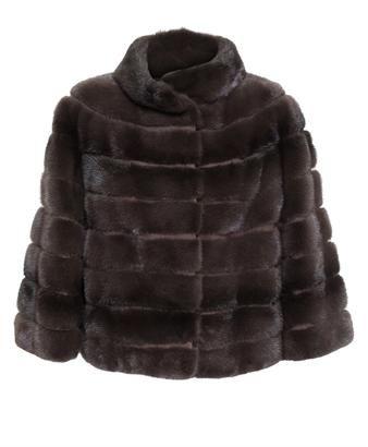 YVES SALOMON Cropped Mink and Goat Fur Coat