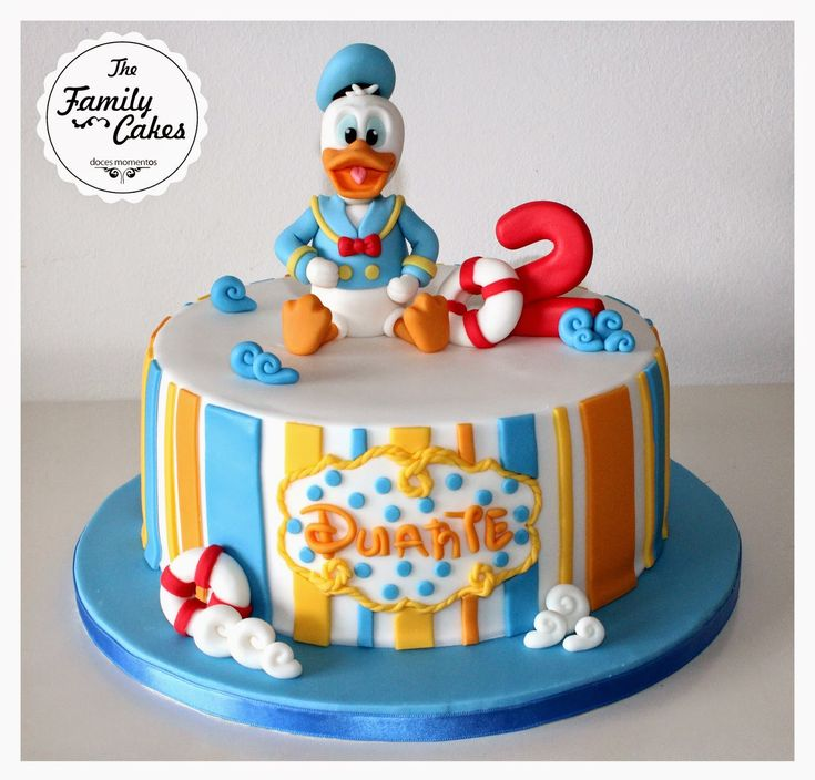 Bolo Pato Donald / Donald Duck Cake - The Family Cakes