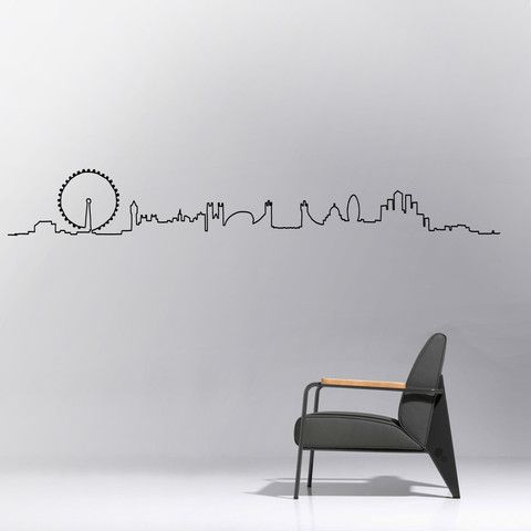 The London Skyline Wall Decal