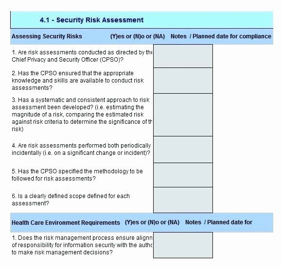 Physical Security Risk Assessment Template In 2020 Assessment